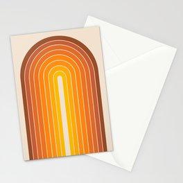 Gradient Arch - Vintage Orange Stationery Cards