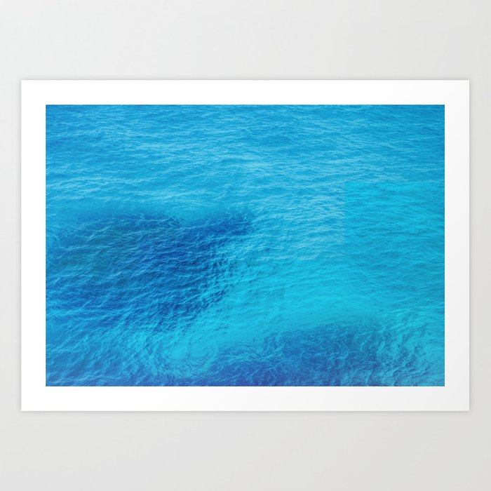 Bluest Blue Art Print
