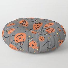 Halloween Magic- Grey Floor Pillow