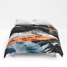 Worlds Colliding Comforters