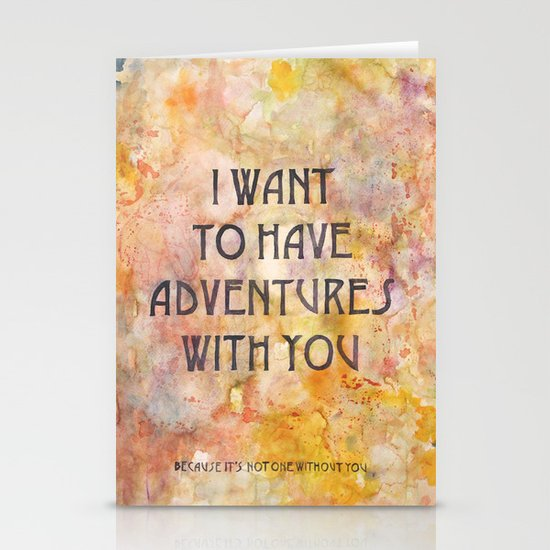 Adventures With You Stationery Cards