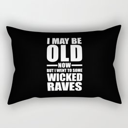 Wicked Raves EDM Quote Rectangular Pillow