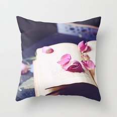 scattered memories Throw Pillow