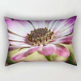 Purple Osteospermum Textured Rectangular Pillow