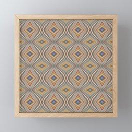 Wild Wavy Patchwork 10 Framed Mini Art Print
