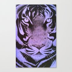 Be a Tiger (Purple) Canvas Print