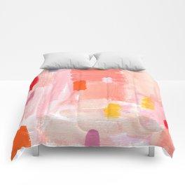 Put Sorrows In A Jar - abstract modern art minimal painting nursery Comforters