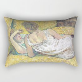 "Henri de Toulouse-Lautrec ""L'abandon (Les deux amies)"" Rectangular Pillow"