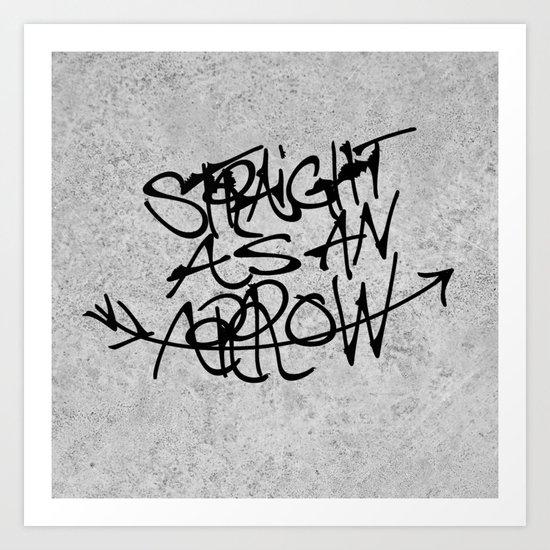 »—A-R-R-O-W—> Art Print