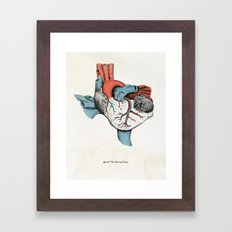 The Heart of Texas (Red, White and Blue) Framed Art Print