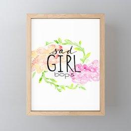 sad girl bops Framed Mini Art Print