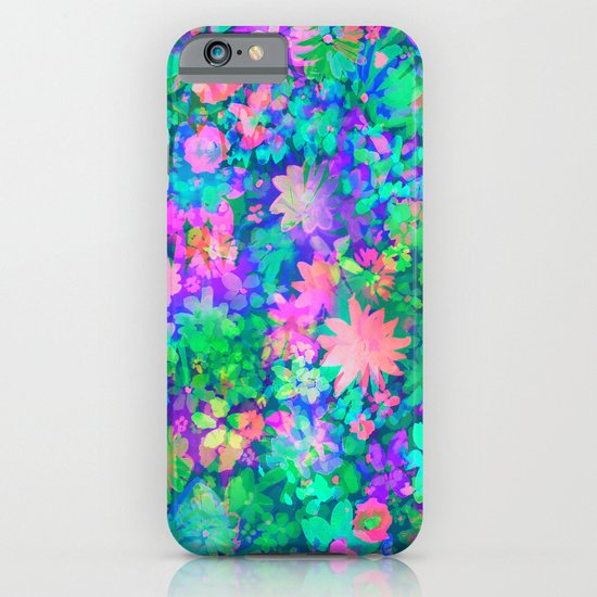 Fluro Floral iPhone & iPod Case