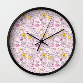 Japanese treats pattern Wall Clock