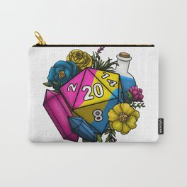 Pride Pansexual D20 Tabletop RPG Gaming Dice Carry-All Pouch