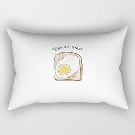 Eggs on Toast Rectangular Pillow