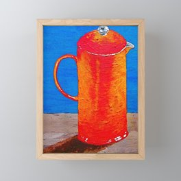 Finished Brewing In the French Press Framed Mini Art Print
