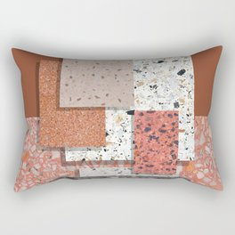 Terrazzo collage 1 Rectangular Pillow