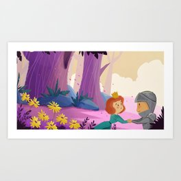 I'll be back before you know it. Art Print