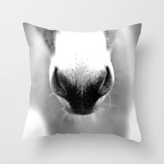 Donkey Nose Throw Pillow