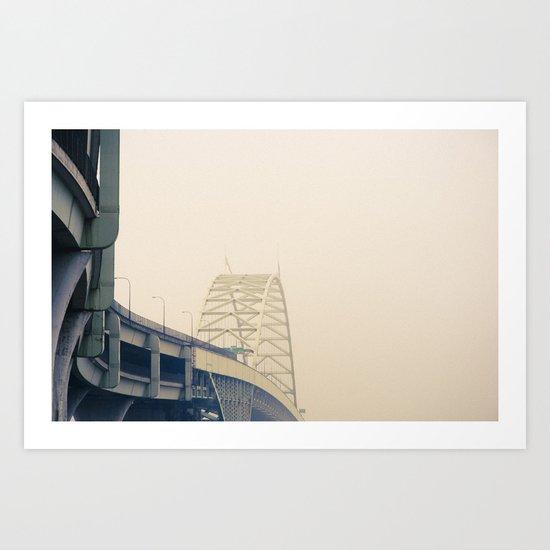Fremont Fog Art Print