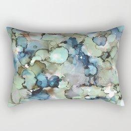 Alcohol Ink Sea Glass Rectangular Pillow