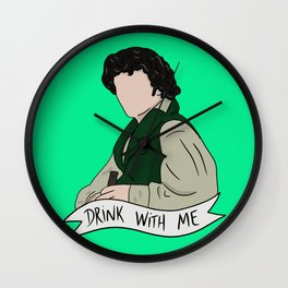 Grantaire - Drink With Me Wall Clock