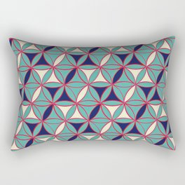 Tiger Eye Asian Pattern Rectangular Pillow