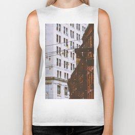 New York City Buildings and Lights (Color) Biker Tank