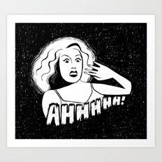 Classic horror movie scream Art Print