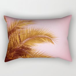 Rose Gold Tropics Rectangular Pillow