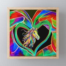 I HEART my HORSE! Framed Mini Art Print