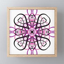 PINK SACRED GEOMETRY Framed Mini Art Print
