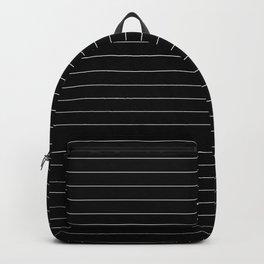 Black And White Pinstripe Line Stripe Minimalist Stripes Lines Backpack