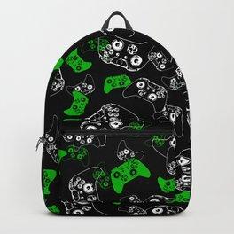 Video Game Black & Green Backpack