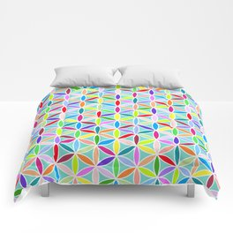 Flower of Life Pattern – Multicoloured Comforters