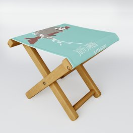 Sloth card - just 5 more minutes Folding Stool