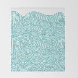 Waves Throw Blanket