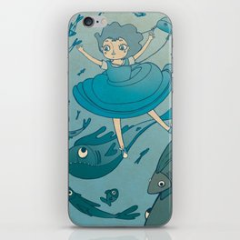 The puddle was an ocean full of fishes iPhone Skin