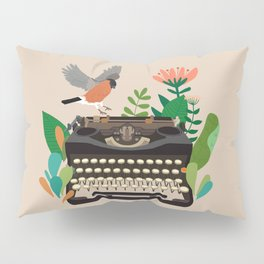 The bird and the typewriter Pillow Sham