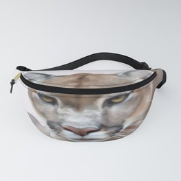 Mountain lion and mountains Fanny Pack