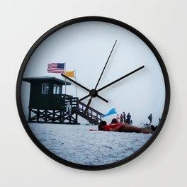 Moon life, day at siesta key beach, Florida. Wall Clock