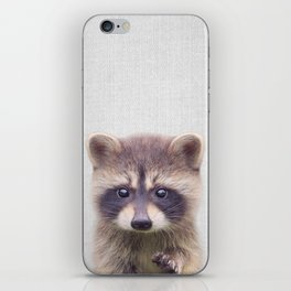 Raccoon - Colorful iPhone Skin