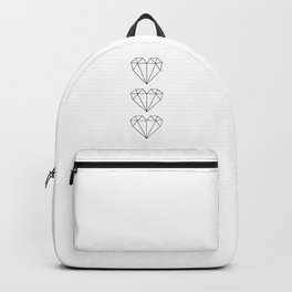 Diamond Shaped heart geometric art Backpack