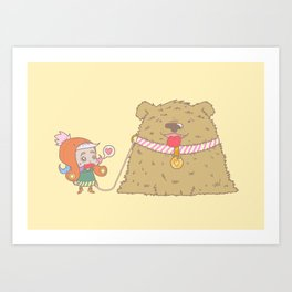 Babouf, the ugliest but the nicest dog in the world ! Art Print