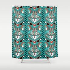Cubist Cat Shower Curtain