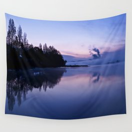 Tranquil blue nature Wall Tapestry