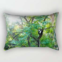 The enchanted woods | Bright tropical forest palm tree exotic green photography Rectangular Pillow