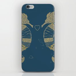 <3 of seahorses iPhone Skin