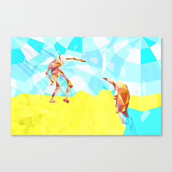 Electric Pinguin Canvas Print