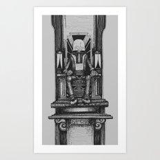Pax Robota - B&W Art Print